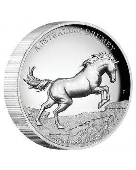 2021 2 oz Australia Brumby .9999 Silver High Relief Proof Coin
