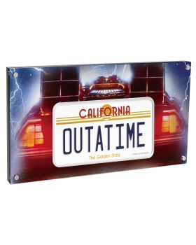 2020 10 oz Niue Back to the Future 35th Anniversary .999 License Plate Silver Proof Coin