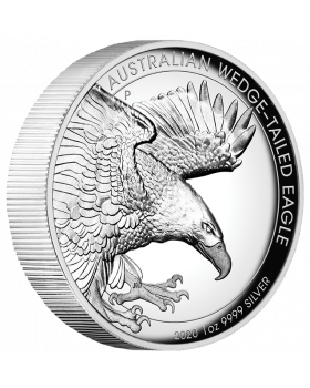 2020 1oz Australia Wedge Tailed Eagle .9999 Silver Proof High Relief Coin