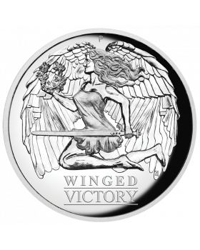 2021 1 oz Australia Winged Victory .9999 Silver Proof High Relief Coin