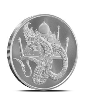 1 oz Golden State Mint World of Dragons - Indian Dragon .999 Silver Round