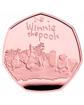 2021 15.5g Great Britain  Winnie The Pooh and Friends .9167 Gold Proof Coin