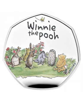 2021 8 gram Great Britain Winnie The Pooh and Friends .925 Silver Proof Coin
