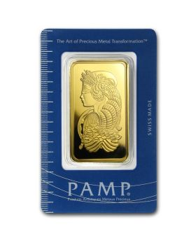 100 gram Pamp Suisse  - Lady Fortuna .9999 Gold Bar (In Assay)