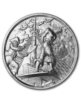 2oz Ultra High Relief .999 Silver Round - The Plank - Privateer 5