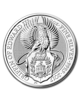 2017 2 oz Britain Queen's Beasts - The Griffin of Edward III .9999 Silver Coin