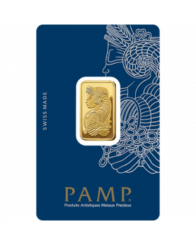 10 gram Pamp Suisse Lady Fortuna with Veriscan .9999 Gold Bar (In Assay)