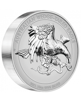 2021 10oz Australian Wedge-tailed Eagle .9999 Silver Reverse Proof Ultra  High Relief Coin