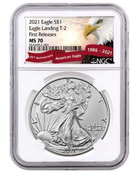 2021 1 oz America Eagle 999 Silver Coin Type 2 (NGC MS70 First Release - Exclusive Eagle Label)
