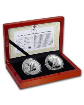 2017 1 oz Isle of Man Noble 999 Silver Proof 2 Coin Set
