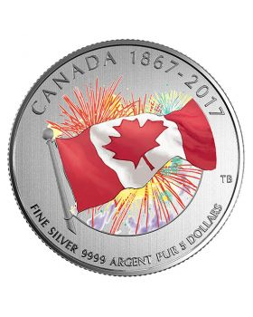 2017 7.96 grams Canada 150th Anniversary - Proudly Canadian .9999 Silver Glow-In-The-Dark Coin