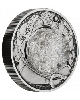 2021 2oz Tuvalu Tears Of The Moon .9999 Silver Antique Coin