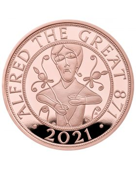 2021 39.94g Great Britain  Alfred The Great .9167 Gold Proof Coin