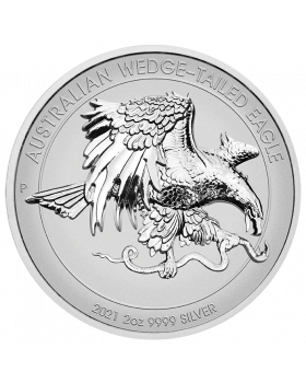 2021 1oz Australia Wedge Tailed Eagle .9995 Platinum Reverse Proof High Relief Coin