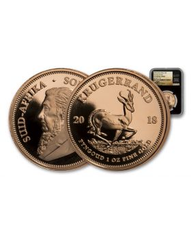 2018 1 oz South Africa Krugerrand .917 Gold Proof Coin (NGC PF70UC FDI BC TUMI)
