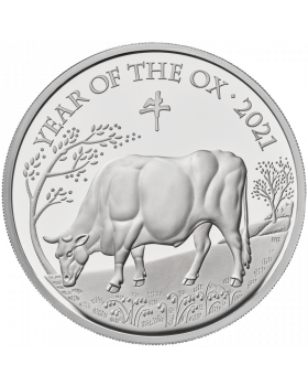 2021 1 oz Great Britain Lunar Series Year of the Ox .999 Silver Proof Coin