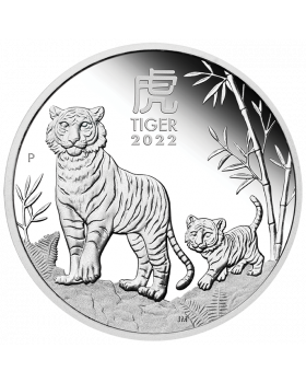 2022 1/2oz Australia Lunar Series III - Year of the Tiger .9999 Silver Proof Coin