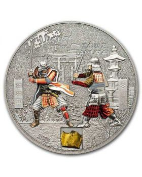 2015 1oz Cook Islands History of the Samurai .999 Silver Proof Coin