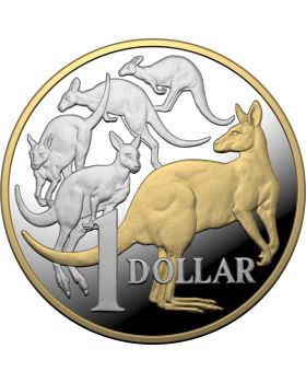 2020 5 oz Australia Mob of Roos .999 Silver with selective Gold Plating Proof Coin