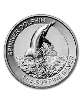 2020 1 oz Australia Spinner Dolphin .999 Silver High Relief Proof Coin