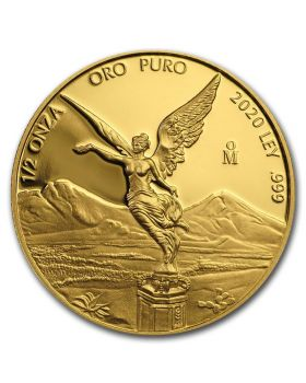 2020 1/2 oz Mexico Libertad .999 Gold Proof Coin (Free US Shipping 99USD+)