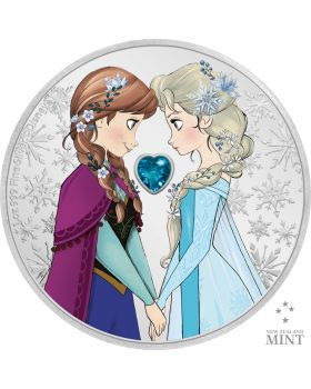 2020 1 oz Niue Disney Frozen - Sisters Forever .999 Silver Proof Coin