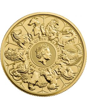 2021 1 oz Great Britain Queen's Beasts Completer .9999 Gold Coin BU