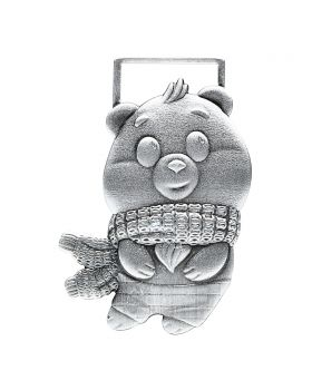 2021 1/2oz Chad Tommy Bear .999 Silver Antique High Relief Coin