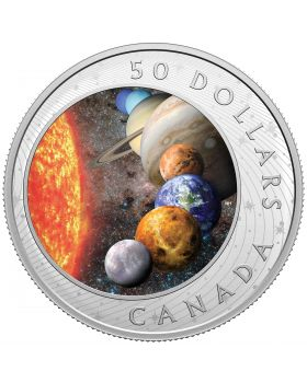 2021 5oz Canada The Solar System .9999 Silver Proof Coin