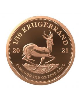 2021 1/10 oz South Africa Krugerrand .9167 Gold Proof Coin
