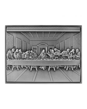 2021 2oz Chad Vincent Van Gogh - The Last Supper .999 Silver Antique Ultra High Relief Coin