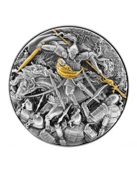2021 2oz Chad Zhao Yun In the Battle of Changban .999 Silver Antique High Relief Coin