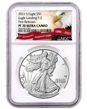 2021-S 1oz America Eagle Type 2 999 Silver Proof Coin (NGC PF70 First Release)