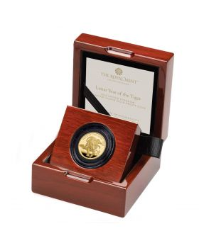2022 1/4 oz Great Britain  Lunar Series Year of the Tiger .9999 Gold Proof Coin