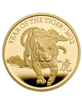 2022 1 oz Great Britain  Lunar Series Year of the Tiger .9999 Gold Proof Coin
