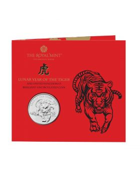 2022 28.28 gram Great Britian Lunar Series  Year of the Tiger Cupro-Nickel Coin