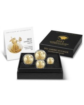 2021-W America Eagle .9167 Gold Proof 4 Coin Set