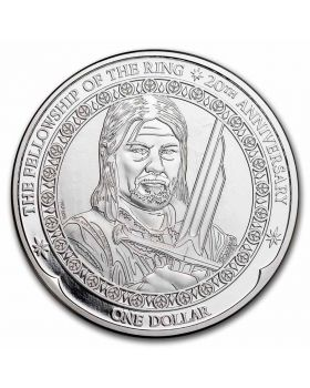 2021 1oz New Zealand Lord of the Rings 20th Anniversary - Boromir .999 Silver BU Coin