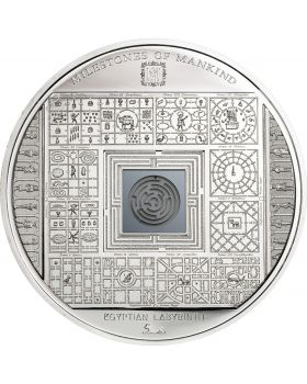 2016 50 gram Cook Islands Milestones of Mankind - Egyptian Labyrinth .999 Silver Proof Coin