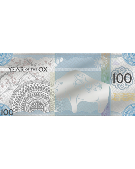 2021 5 gram Mongolia Year of the Ox .999 Silver Note