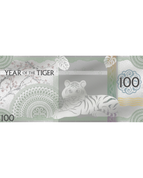 2022 5gram Mongolia Year of Tiger .999 Silver Note