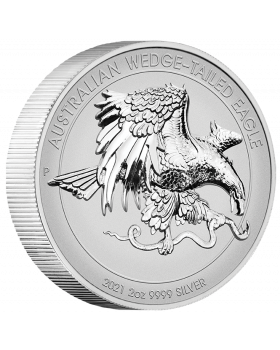 2021 2oz Australia Wedge-tailed Eagle .9999 Reverse High Relief Piedfort Proof Coin