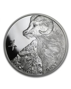 2015 1oz Niue Year of the Goat .999 Silver Proof Coin