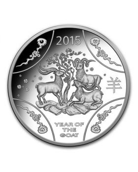 2015 11.66 gram Australia Year of the Goat .999 Silver Proof Coin