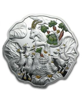 2015 1/2 oz Niue Year of the Goat Cabbage Shaped .999 Silver Proof Coin