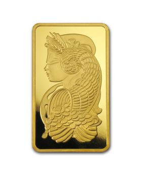 10 oz Pamp Suisse - Lady Fortuna with Veriscan .9999 Gold Bar