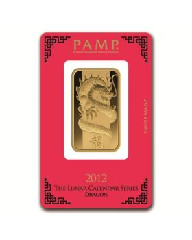 1 oz Pamp Suisse - Year of the Dragon .9999 Gold Bar (In Assay)