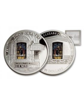 2014 50 gram Cook Islands Windows of Heaven - Metropolitan Cathedral .925 Silver Proof Like Silver Coin