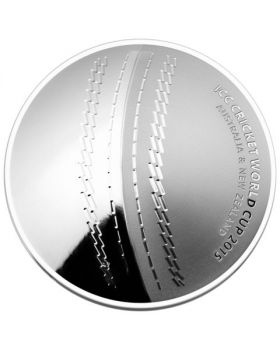 2015 1 oz Australia ICC Cricket World Cup .999 Silver Proof Domed Coin