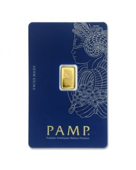 1 gram Pamp Suisse - Lady Fortuna with Veriscan .9999 Gold Bar (In Assay)